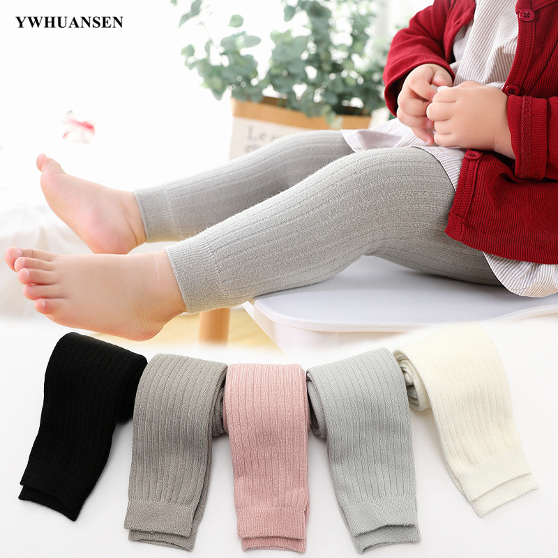 YWHUANSEN 0 To 6 Yrs Baby Thicken Leggings For Winter Girls Velvet Lining Pants Fashion Toddler Boy Warm Pantyhose For Children