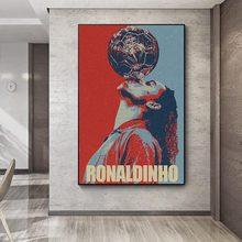Ronaldinho hopestyle arte da lona cartaz arte da parede decoração cópias para sala de estar crianças quarto casa decoração pintura
