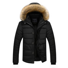 HENCHIRI 2019 Fashion Hooded Winter Coat Men Thick Warm Men Winter Jackets Windproof Outdoor Parka Jacket Plus velvet warm coats(China)