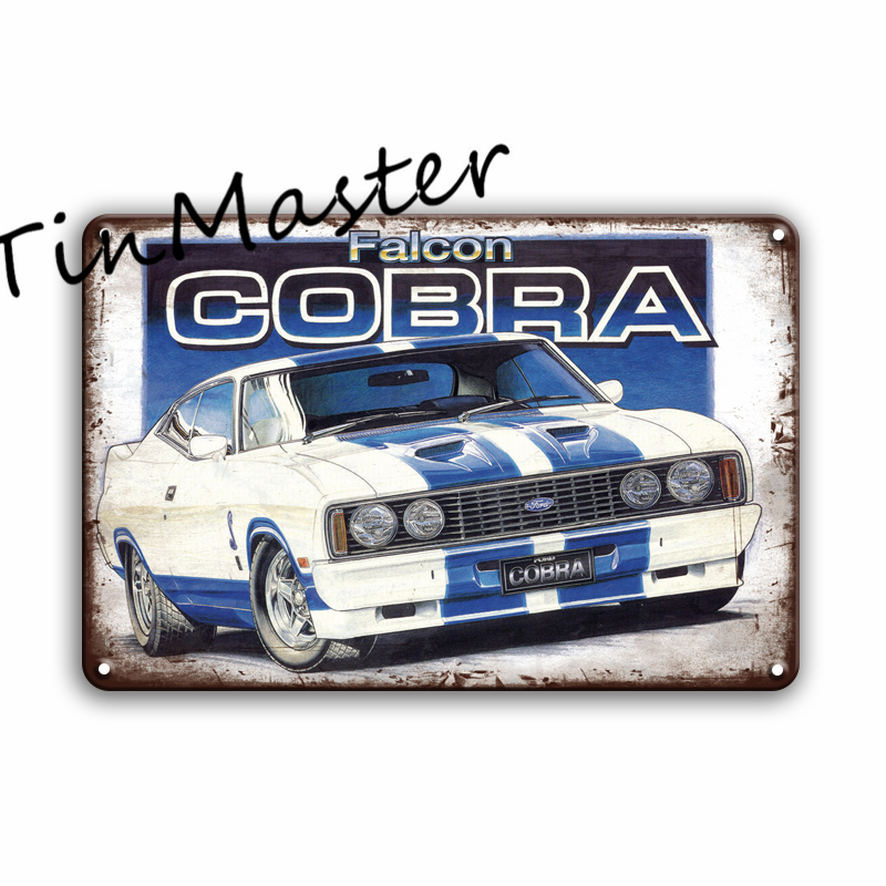Cobra Parking Only Classic Car Heavyweight Steel Wall Sign Metal Plaque 45x30cm
