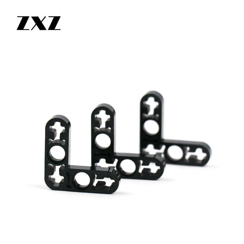 Lego Technic 4 x Liftarm Thin Flat Plate 1 x 7 with 7 axle holes BLACK