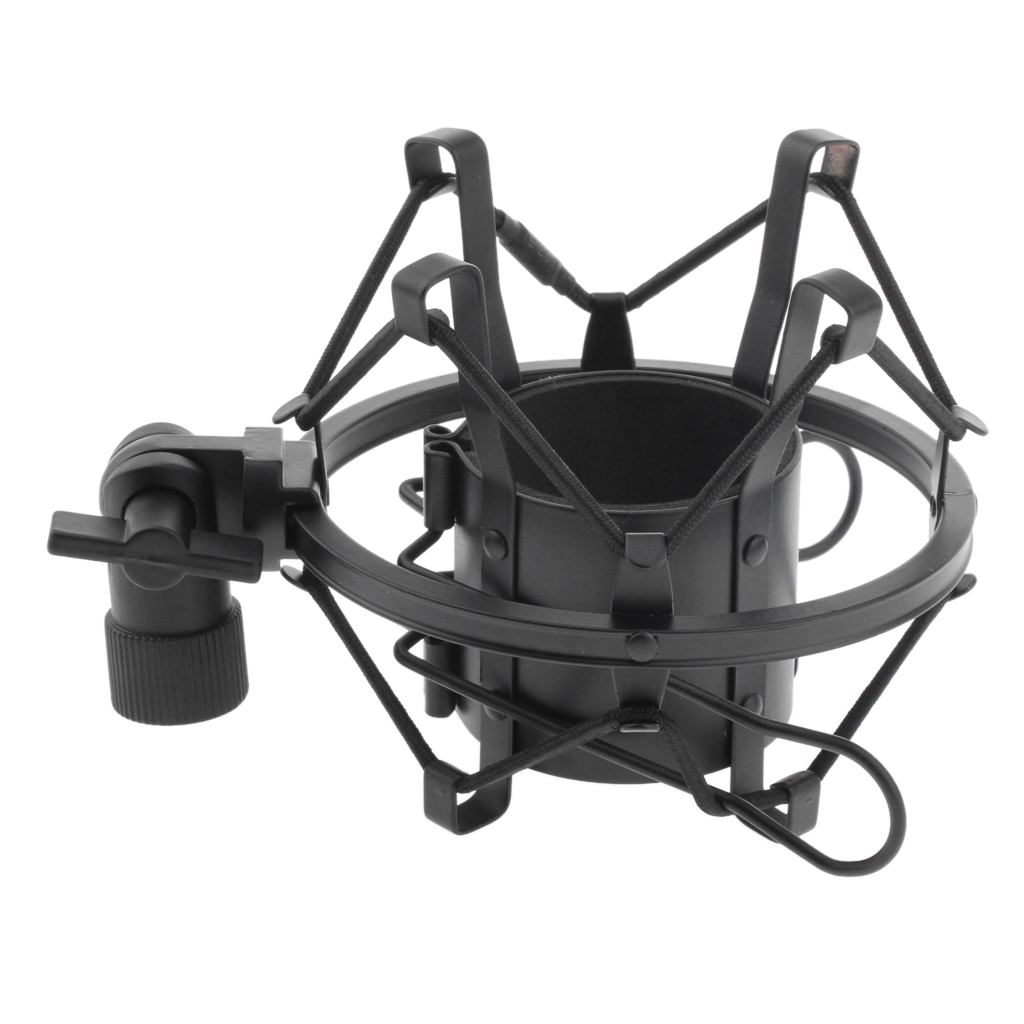 Metal Microphone Shock Mount Stand Spider Clip Holder For Condenser Mic
