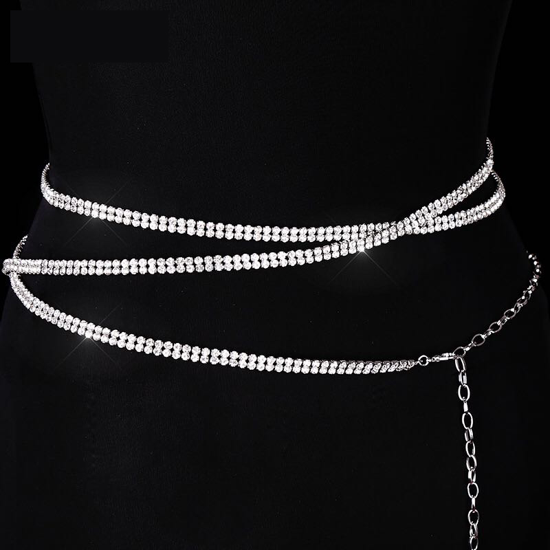 Luxury 2020 Fashion Thin Section Women's Sexy Bikini Body Chain Women's Elegant Luxury Belly Dance Diamond Belt Bg-1296