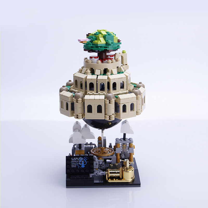 1179Pcs Xingbaoblocks XB-05001 Genuine Creative Moc Laputa Castle In The Sky Bricks With Music Box Toys For Children 4PX To De