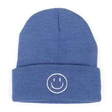 Autumn Winter Beanie Hat New Smiley Face Embroidery Women Female Knit Hat Hip Hop Street Winter Hats for Men Beanies цена в Москве и Питере