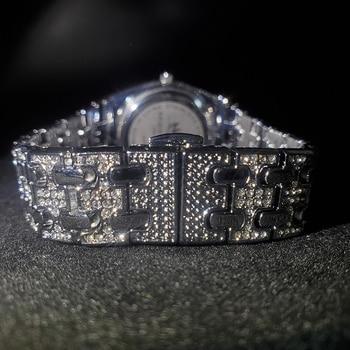 MISSFOX Silver Women's Watch Casual Dress Ladies Watch Fashion Waterproof Steel Quartz Wrist Watches For Women Valentines Gift 4
