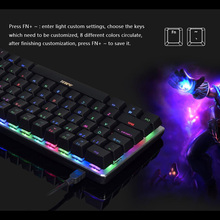 Mechanical Keyboard AJAZZ LAYOUT Black-Switches Mini 82-Keys PORTABLE Wired RGB Blue