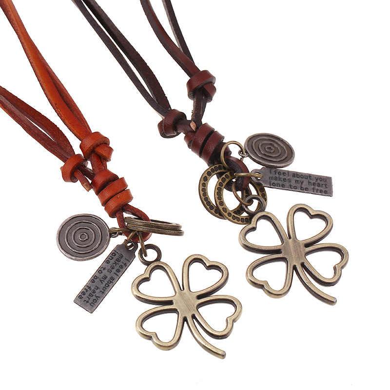 2019 novo criativo simples artesanal de cobre metal longo pingente colar delicadeza vintage camisola corrente jóias para mulher