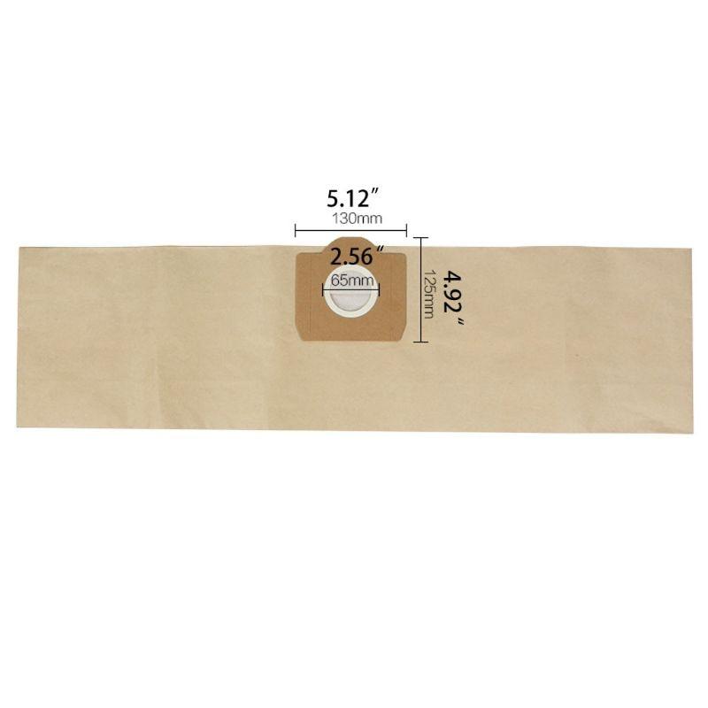 10pcs Vacuum Cleaner Paper Dust Bags Filter For Karcher MV1 WD3200 WD3300 SE4001 A2204 A2656 Spare Parts Accessories