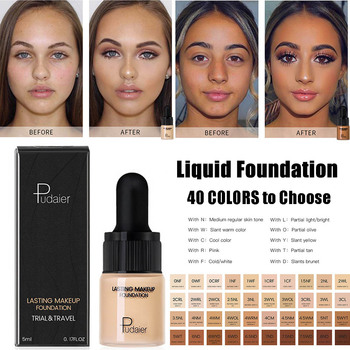 Pudaier Professional Concealing Foundation Makeup Matte Tonal Base Liquid Cosmetics Face Full Coverage Foundation Cream недорого