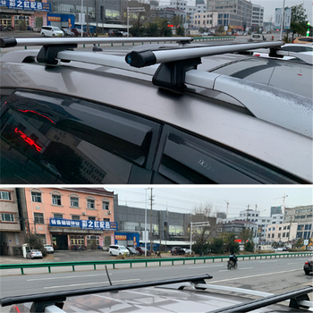 High Quality Universal Aluminium Alloy 125cm Car Roof Rack Cross Bar with Lock for SUV Car image