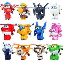 19 estilos super asas figura de ação brinquedos mini avião asa deformação robô brinquedo transformação anime dos desenhos animados brinquedo crianças presente
