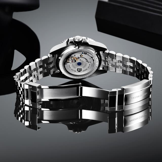 PAGANI DESIGN 40mm GMT Men's Mechanical Watches 100M Waterproof Top Brand Sapphire Glass Stainless Steel Business Men's Watch 5
