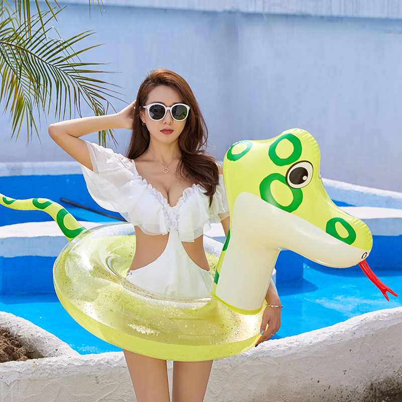 Giant Inflatable Snake Pool Float Ride-On Snake Swimming Ring Summer Island Water Outdoor Fun Toys For Children Piscina Boias