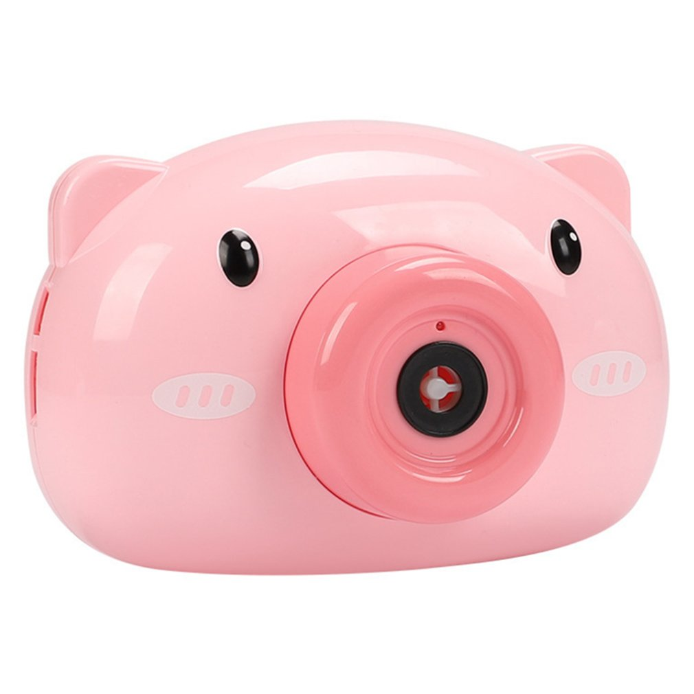 Cartoon Pig Camera Kids Baby Bubble Machine Outdoor Automatic Bubble Maker Gift For Girlfriend Bath Toy For Children
