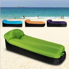 Inflatable Portable Sleeping Bag Outdoor Camping Bed Folding Lounger Sofa Camp Beach Air Mattress Picnic Chair Indoor Couch