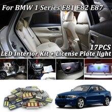 17 шт. белый без ошибок для BMW 1 серии E81 E82 E87 светодиодный интерьерный светильник s Kit+ светильник номерного знака