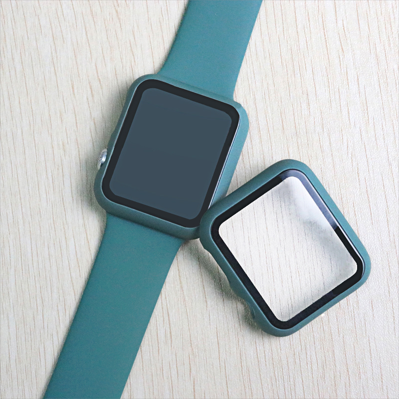 Sport Silicone Strap+Case For Apple Watch 44mm 40mm Series 4 5 Full Curved Screen Protector For IWatch Band 42mm 38mm Series 3 2