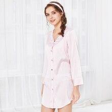 New product silks sexy lady nightdress summer shirt female sleepwear home service S097