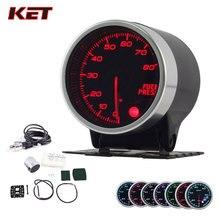 2 Inch 52MM Smoke Lens 0-80PSI Fuel Press Gauge Pressure Meter With Stepper Motor