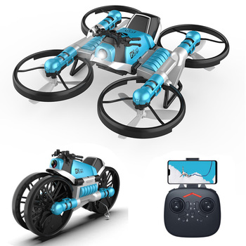 mini drone 2.4G remote control deformation motorcycle folding rc Helicopter four-axis aircraft rc toys Quadcopter Christmas gift 1