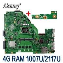 Akemy X550CA Laptop płyta główna For Asus X550CA X550CC X550CL R510C Y581C X550C X550 Test oryginalny płyty głównej płyta główna 2117/1007 procesora