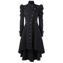 Female Jacket wool coat Womens Vintage Steampunk Long Coat Gothic Overcoat Ladies Retro Autumn Winter long
