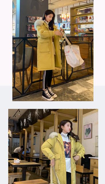 -30 Degrees Winter Women Long Parkas Jackets Plus Size M-5XL Thick Warm Big Fur Collar Female Slim Sintepon Parkas Outwear Coat 23
