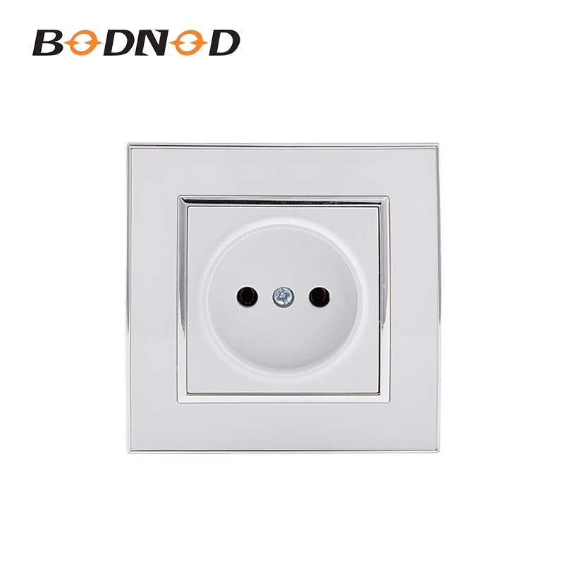 EU Standard Power Plug Socket White Color Socket Without Earth Socket 10A 250V Free Shipping Legrand Schneider Livolo(China)