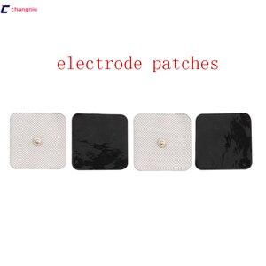 Image 2 - Бесплатная доставка, высокое качество, 50 шт. (25 пар), 5 см * 5 см, проводящие электродные прокладки, десятки/электроды, EMS, используются с TENS/EMS машиной