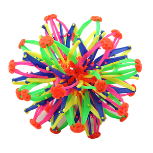 Baby throwing ball flowering shrinking ball kindergarten telescopic becoming bigger and smaller ball toys for children(China)