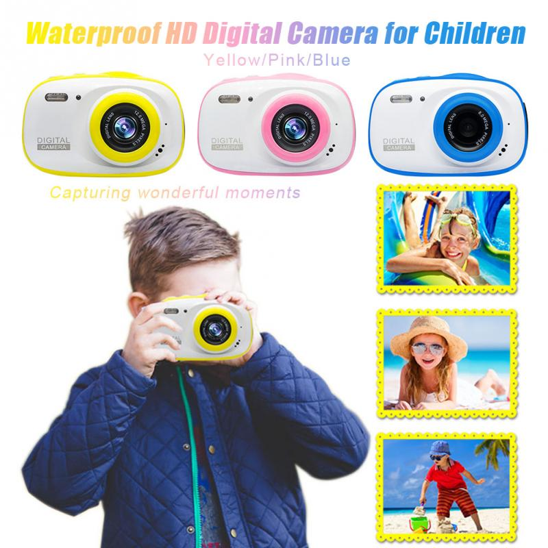 Подводная детская камера 12MP HD водонепроницаемая цифровая камера/4X цифровой зум/8 Гб карта памяти футляр для миниатюрной видеокамеры детская камера