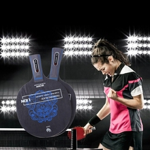 Table Tennis Paddle Ping Pong Racket Training Blade long handle short handle carbon blade pimple in with 7 layers wood baseboard цена