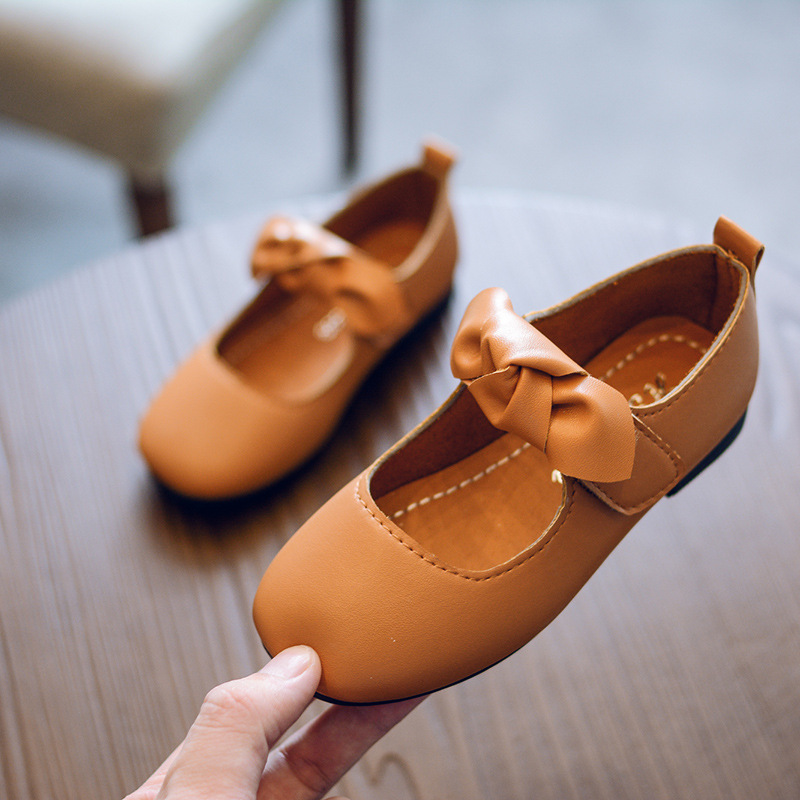Fashion Bow Little Girl Dress School Shoe Princess Children Baby Leather Shoes Kids Party Shoes 1 2 3 4 5 6 7 8 9 10 11 12 Years