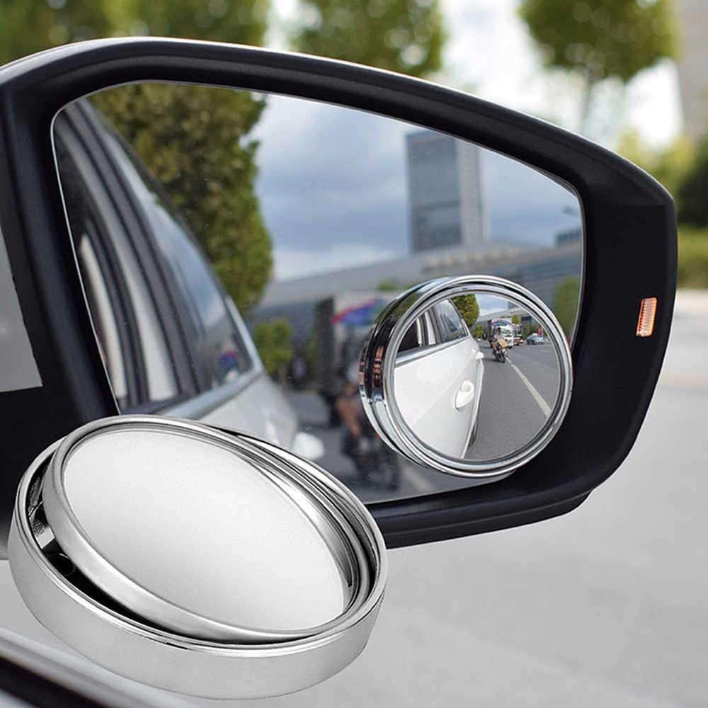 1 قطعة/2 قطعة 360-درجة زاوية واسعة دوران قابل للتعديل سيارة مستديرة الرؤية الخلفية مساعدة العمياء بقعة مرآة اكسسوارات السيارات
