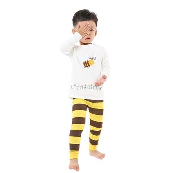 100 bawełna zestawy ubrań dla chłopców dzieci Bee Panda piżamy zestawy piżamy świąteczne dla dzieci zestawy dziecięce piżamy tanie i dobre opinie Little Bitty COTTON Unisex Cartoon Pełna REGULAR 2T-3T-4T-5T-6T-7T-8T Casual Pasuje mniejszy niż zwykle proszę sprawdzić ten sklep jest dobór informacji
