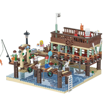 New LepinBlocks 30101 Old Fishing House Pier Compatible IDEA 16050 21310 Building Bricks Educational Toy Child Birthday Gifts