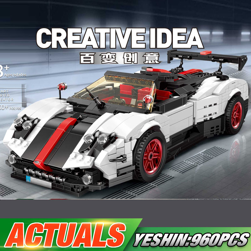 Yeshin <font><b>23002</b></font> MOC Technic Car Toys The 22208 Pagani Zonda Cinque Car Set Kids Christmas Toys Gift Assembly Building Blocks Bricks image
