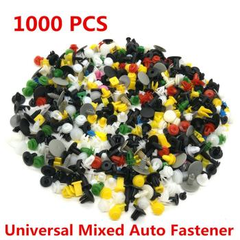 80% HOT SALES!!! 1000Pcs Mixed Auto Car Door Bumper Panel Fenders Fastener Rivet Push Pin Clip image