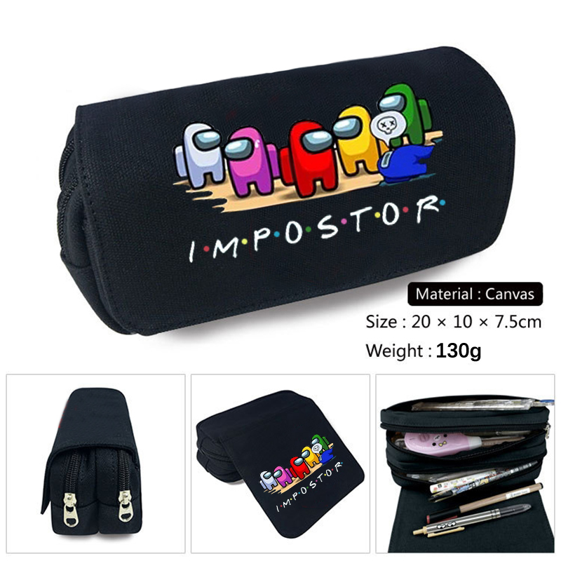 Game Figure Pen Case Student School Supplies Anime Stationery Box Child Study High-capacity Pencil Bag Christmas Gift