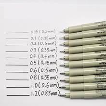 15 Sipa Ultra Nadel Stifte Feine Liner Schwarz für Mango Darstellung Zeichnung Arbeit Design Hand-zeichnung Animation