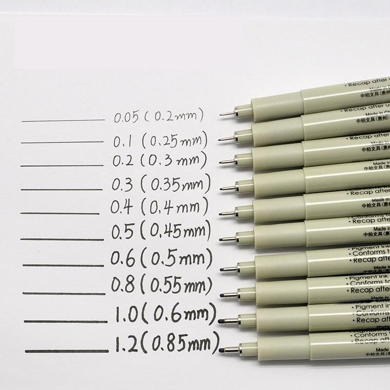 15 Sipa Ultra Needle Pens Fine Liner Black for Mango Illustration Drawing Work Design Hand-drawing Animation