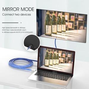Image 3 - 8 18k 60 60hzのhdmi 2.1ケーブル4 18k 120 60hz 48gbpsの帯域幅アークmoshouビデオ2メートルコード高精細マルチメディアインタフェースアンプテレビ