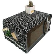 Toalla de algodón y lino a prueba de aceite, Material Natural, protección transpirable CB4658/o para horno microondas