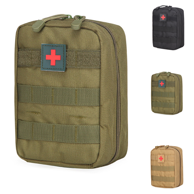 <font><b>Tactical</b></font> First Aid Bag <font><b>Molle</b></font> Medical Pouch Duable Utility EDC Tool Accessory Waist Pack Airsoft Hunting Pouch image
