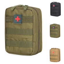 Tactical First Aid Bag Molle Medical Pouch Duable Utility EDC Tool Accessory Waist Pack Airsoft Hunting Pouch 1000d molle tactical first aid kits utility medical accessory bag outdoor hunting hiking survival modular medic bag pouch