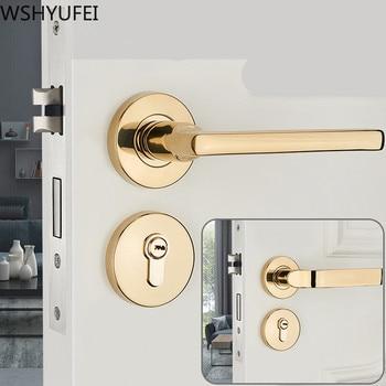 American style Zinc Alloy Door lock Indoor Home Solid Wood Door  Mute Door Lock Continental Bedroom Minimalist Interior Door