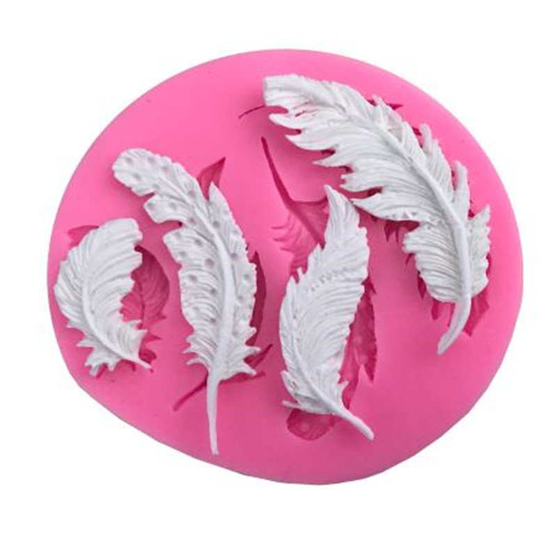 Feather Shape Sugar Buttons Silicone Mold <font><b>Fondant</b></font> Mold <font><b>Cake</b></font> <font><b>Decorating</b></font> <font><b>Tools</b></font> Chocolate Gumpaste Mold Kicthen <font><b>Accessories</b></font> image