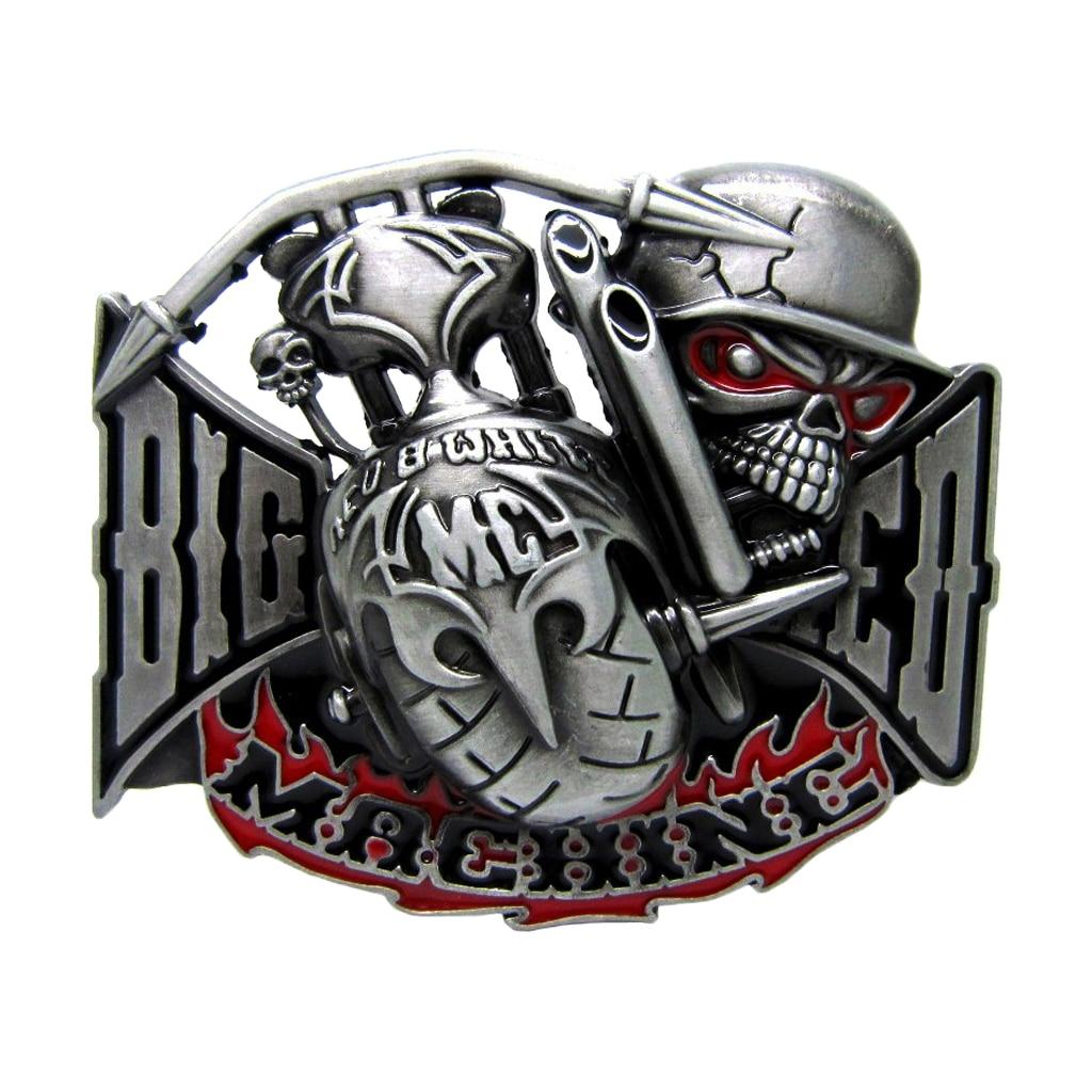 Fashion Western Cowboy Ghost Skull Head Belt Buckle Mechanical Biker Belt Buckle
