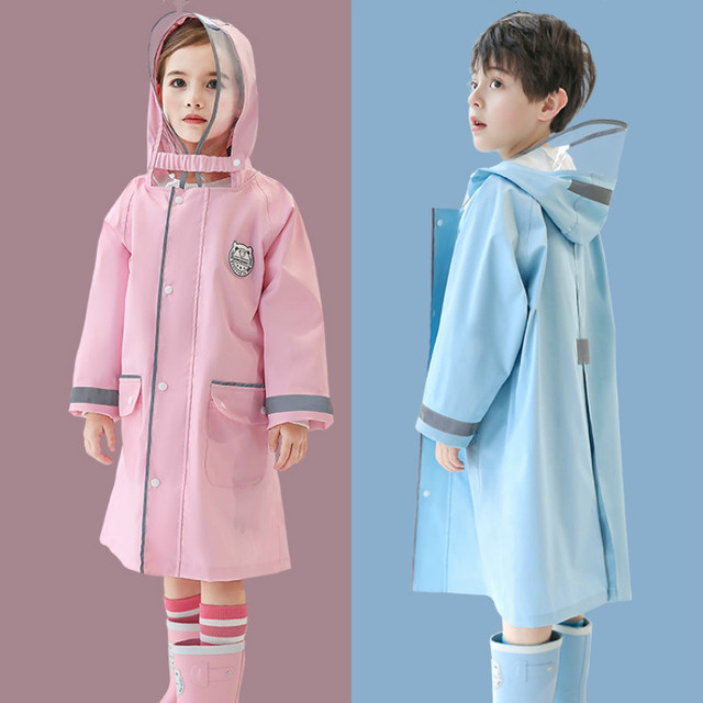 Children Raincoats Blue Boys Rain Gear Rain Poncho Pink Long Girls Rain Coat Pants Kids Waterproof Coat Capa De Chuva Gift Ideas